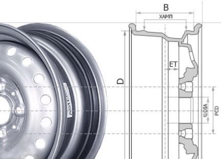 параметры дисков фольксваген